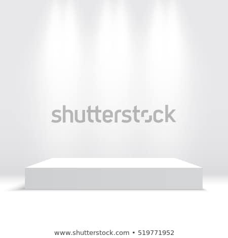 White Square Platform Vector. White Interior Background. Vector Illustration. Stock photo © pikepicture