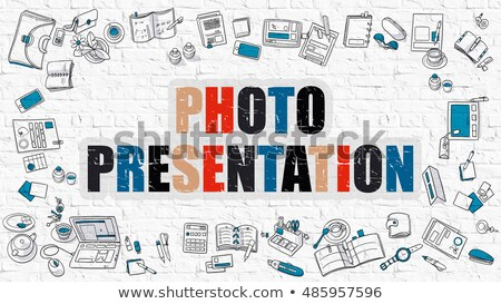 Photo Presentation Concept. Multicolor on White Brickwall. Stock photo © tashatuvango