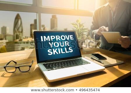 Improve Your Skills Concept on Laptop Screen. Stock photo © tashatuvango