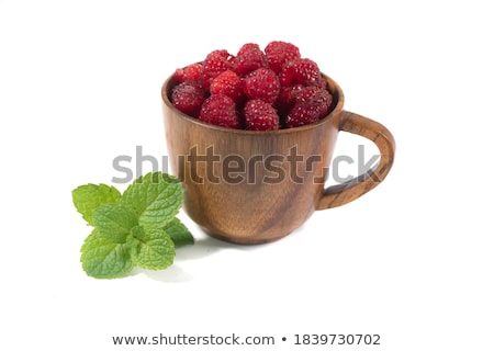 raspberry in cup stock photo © karaidel