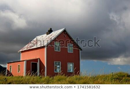 Paisagem país casa Islândia suburbano marrom Foto stock © bezikus