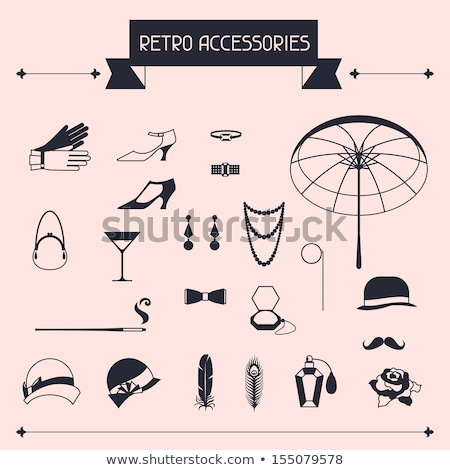 Feathers, necklace and perfume stock photo © akarelias