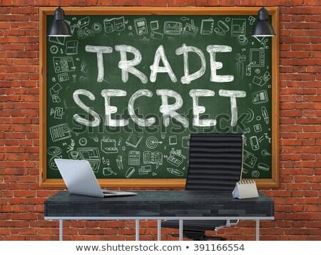 Commercio segreto verde lavagna moderno Foto d'archivio © tashatuvango