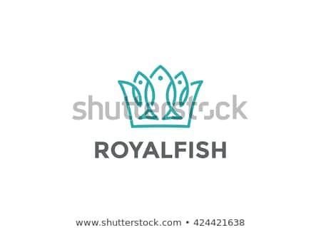 Pescaria linear estilo forma gancho peixe Foto stock © Olena
