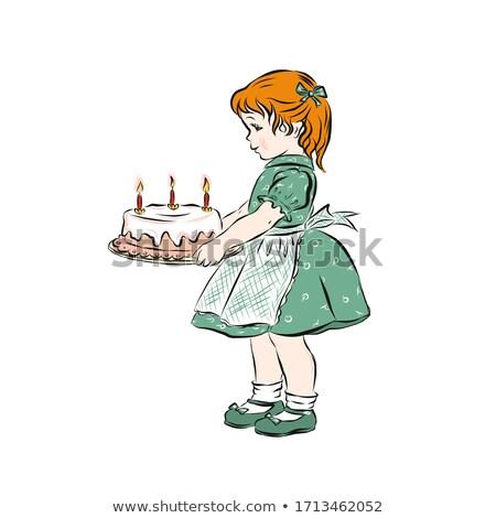 子供 誕生日ケーキ 少女 愛 楽しい ストックフォト © IS2