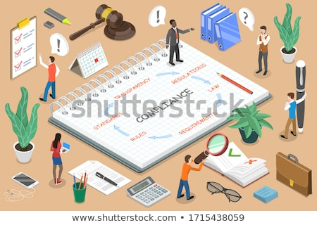 Folder Register People Management. 3D. Stock photo © tashatuvango