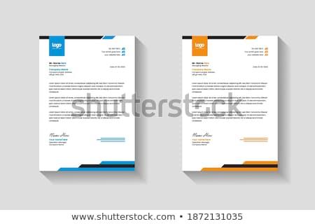 Klassz szett absztrakt üzlet brosúra kreatív Stock fotó © SArts