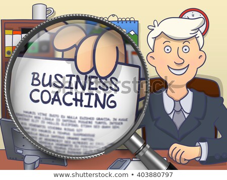 Business Coaching through Lens. Doodle Concept. Stock photo © tashatuvango