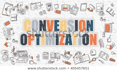 multicolor conversion optimization on white brickwall stock photo © tashatuvango
