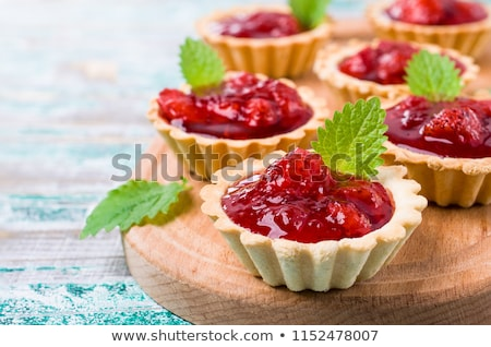 slice of strawberry jam tart stock photo © digifoodstock