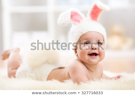 pretty baby little boy in rabbit costume stock photo © traimak