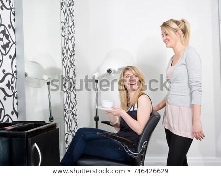 schoonheid · kapper · stoel · foto · jonge - stockfoto © is2