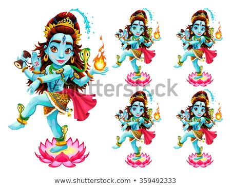 Funny representation of eastern god in 5 different eye colors Stock photo © ddraw
