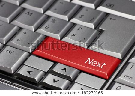 Blauw volgende niveau knop toetsenbord Stockfoto © tashatuvango