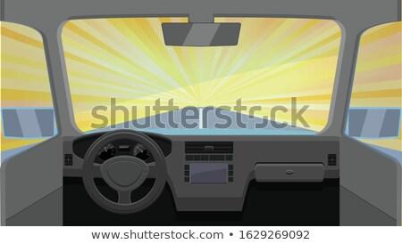 Autó belső clipart autó terv sebesség Stock fotó © vectorworks51