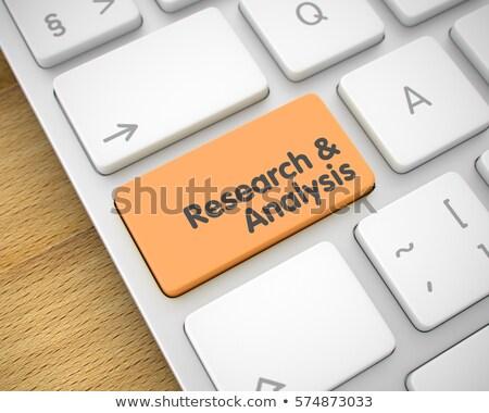 Analytics bericht oranje toetsenbord sleutel 3D Stockfoto © tashatuvango