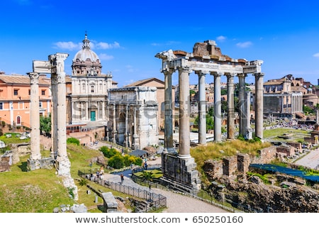 Romaine forum Italie ruines Rome ville Photo stock © Givaga