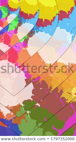 abstract artistic creative colorful heart explode Stock photo © pathakdesigner