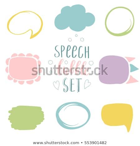 Résumé dessinées bulle pastel couleurs doodle Photo stock © mcherevan