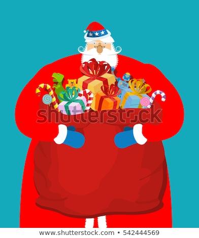Mikulás nagybácsi amerikai karácsony felhők hazafias Stock fotó © popaukropa