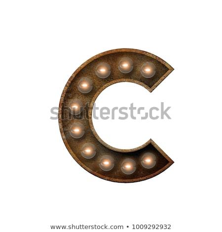 Letter c 3D broadway stijl hoog kwaliteit Stockfoto © creisinger