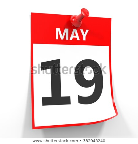 wall calendar with a red pin   may 19 stock photo © zerbor