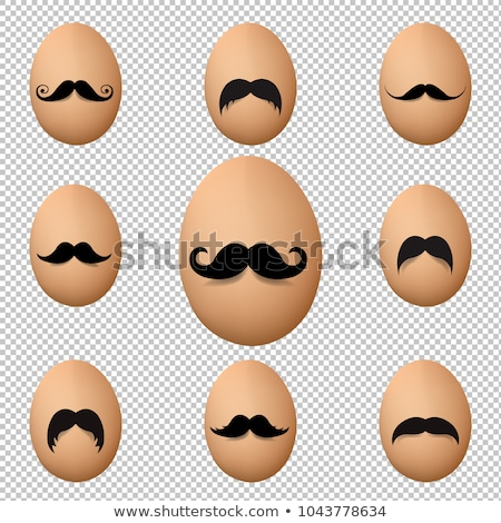 яйца усы большой набор изолированный прозрачный Сток-фото © adamson