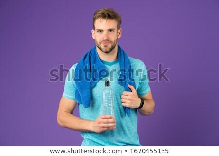 drink energy drink men sports fitness perspiring stock photo © freeprod