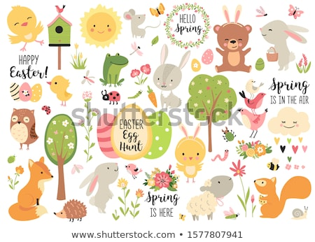 cute easter characters stock photo © kariiika