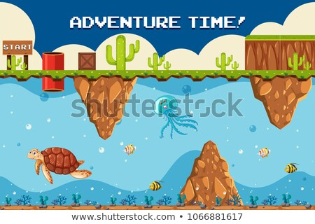 adventure game underwater theme at start point stock photo © bluering