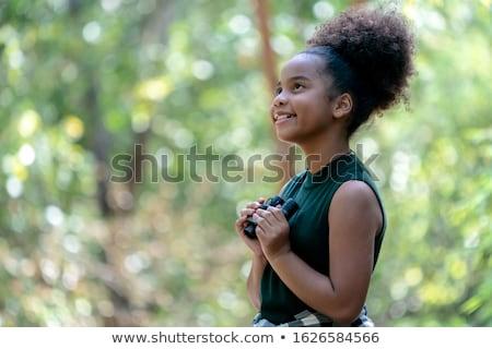 çocuklar yürüyüş doğa örnek kız çocuklar Stok fotoğraf © bluering