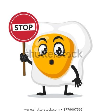 Cute huevo mascota de la historieta carácter Foto stock © hittoon