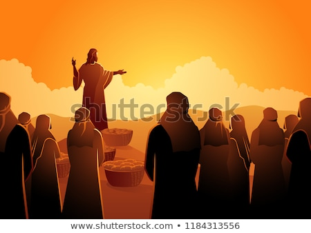 Jesus Christ. Gods Son. Biblical religious vector illustration Stock photo © popaukropa