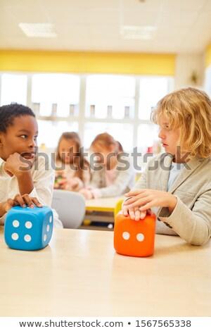 детей, играющих Math игры школы иллюстрация дети Сток-фото © bluering