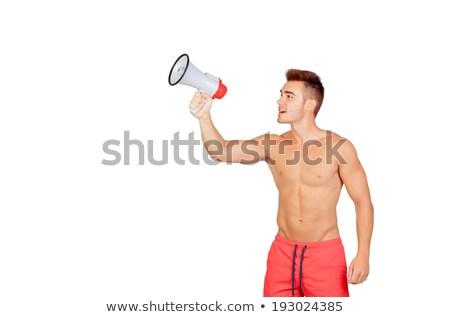 a lifeguard holding a megaphone stock photo © bluering