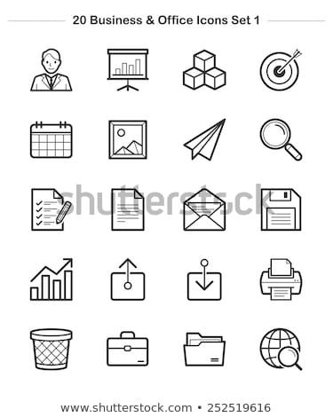 Zdjęcia stock: Seo · ikona · line · zestaw · wyszukiwarka · rozwoju