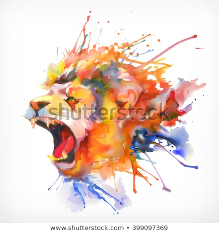 лев животного портрет эмблема вектора талисман Сток-фото © Andrei_