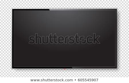Tv az geniş ekran 3d render gri bilgisayar Stok fotoğraf © anyunoff