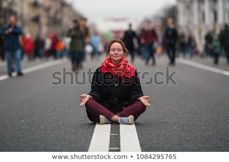 zen · huzurlu · akla · yoga · stres - stok fotoğraf © lightsource