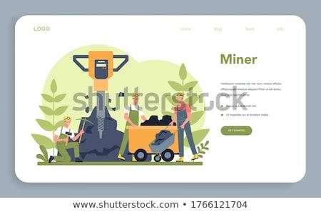 Pickaxe isolated. Extraction of minerals tool. Vector illustrati Stock photo © popaukropa
