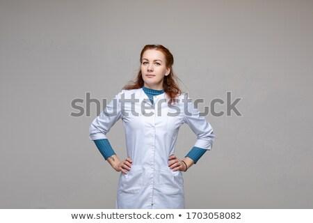White coat women_sickness Stock photo © toyotoyo