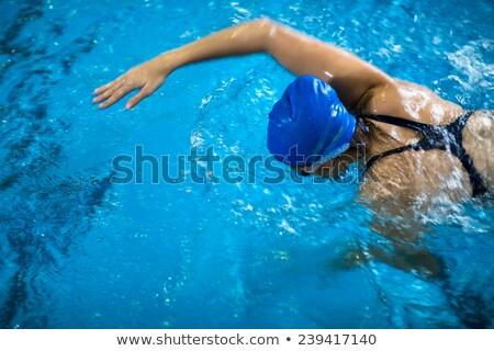 Feminino piscina rastejar raso Foto stock © lightpoet
