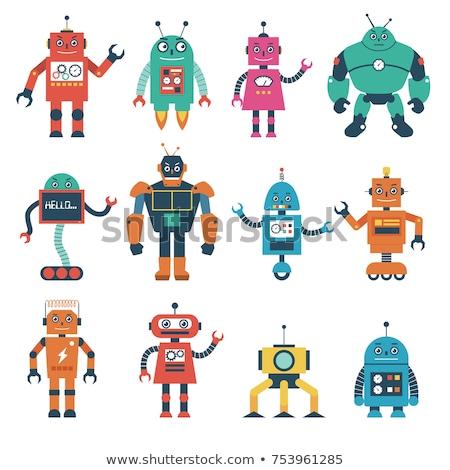 Cartoon улыбаясь робота иллюстрация технологий Сток-фото © bennerdesign