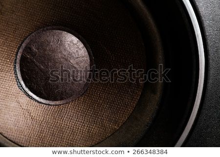 detail of the loudspeacker stock photo © boggy