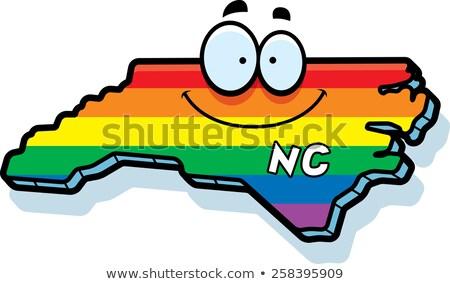 cartoon north carolina gay marriage stock photo © cthoman