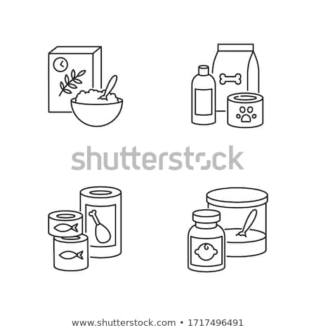 Pet Shop Canned Bottle Package Vector Illustration Stock photo © robuart