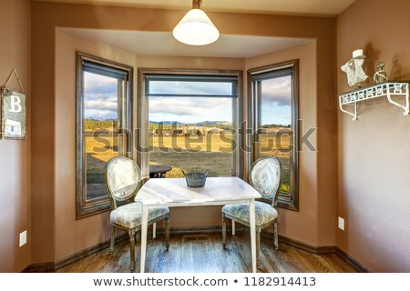 breakfast nook with brown walls stock photo © iriana88w