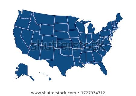 карта · Аляска · синий · шаблон · США · квадратный - Сток-фото © kyryloff