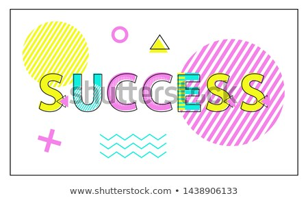 Success Poster Geometric Figures in Linear Style Stock photo © robuart