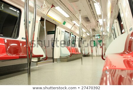 Singapur · metro · tren · insanlar · içinde · kalabalık - stok fotoğraf © joyr
